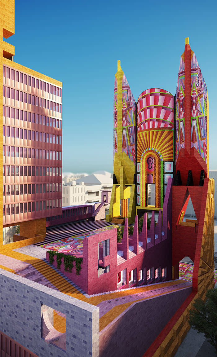 """""""Democratic Monument"""" by Adam Nathaniel Furman. A project commissioned by the Architecture Fringe as part of New Typologies (curated by Lee Ivett and Andy Summers) under 2017's core programme. (C) Adam Nathaniel Furman"""