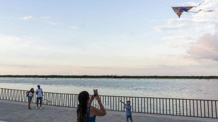 The promenade in Barranquilla