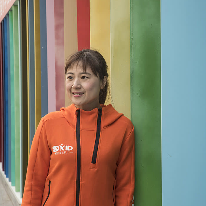 Beijing December 14th, 2017 Cindy MI, CEO of VIPKids, posing for a portrait in Beijing. Gilles Sabrié for The Financial Times