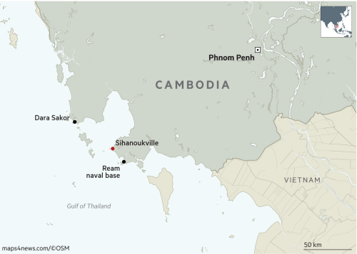 Cambodian leader denies plan to host Chinese military base