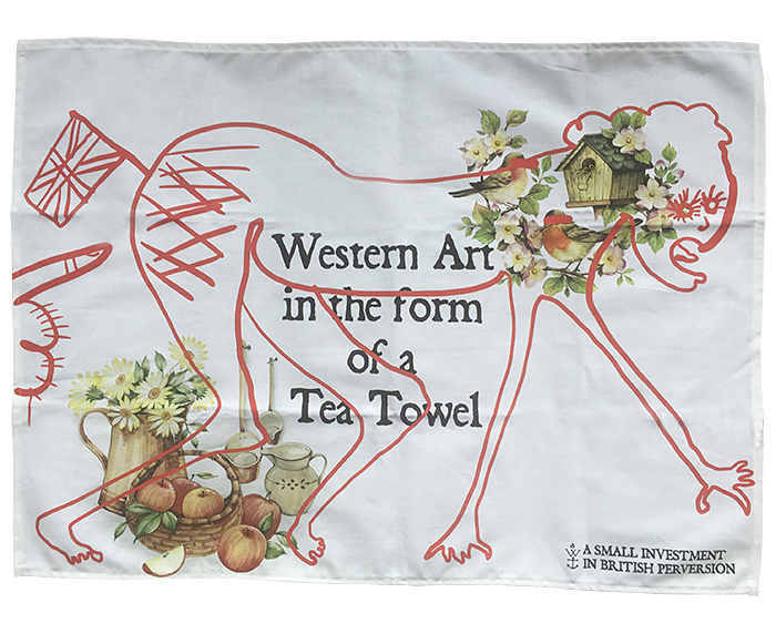 A tea towel to go on sale at Grayson Perry's Holburne Museum exhibition in January