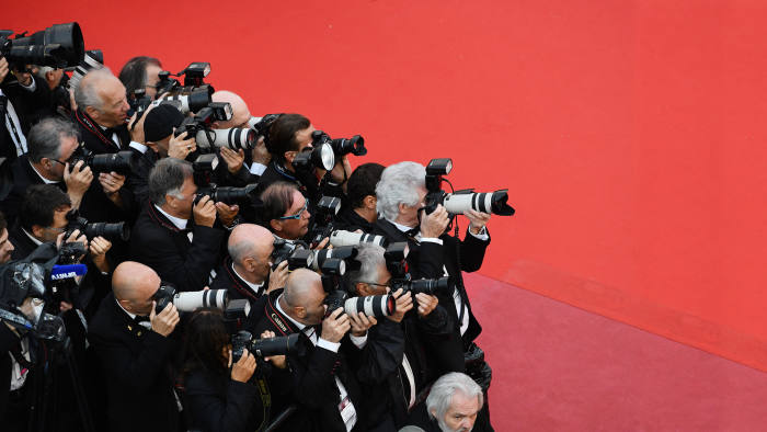 CANNES, FRANCE - MAY 14: Atmosphere of photographers attends the screening of