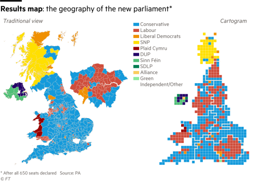 Uk General Election Results At A Glance Financial Times