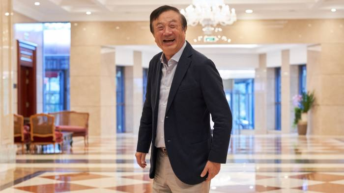 Ren Zhengfei, founder and president of Huawei Technologies Co. Ltd at a rountable interview at Huawei HQ, Shenzhen, China.