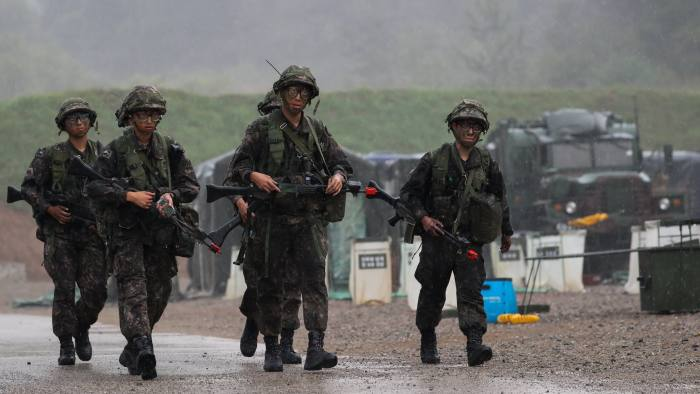 South Korea and US to resume military exercises in April   Financial