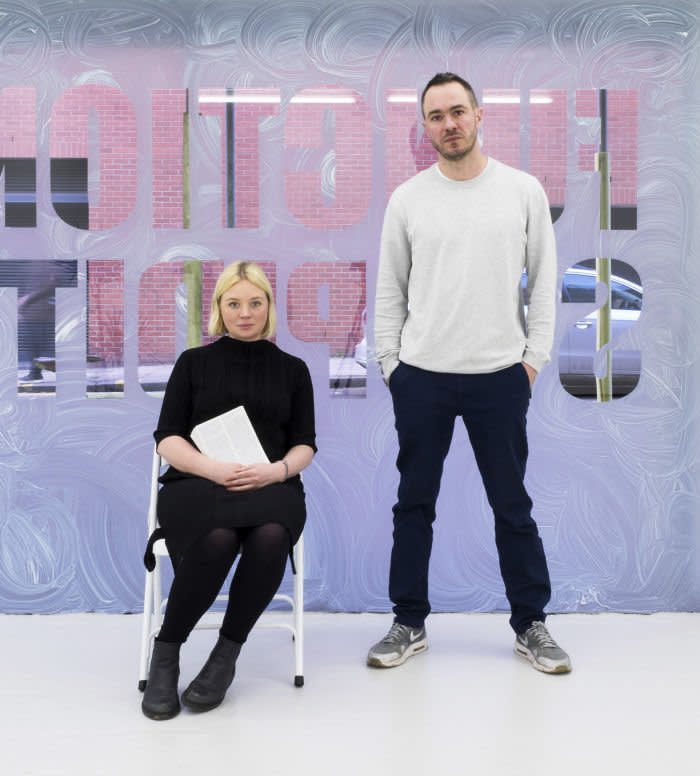 Nigel Dunkley and Grace Schofield, founders of London's six-year old Union Pacific gallery