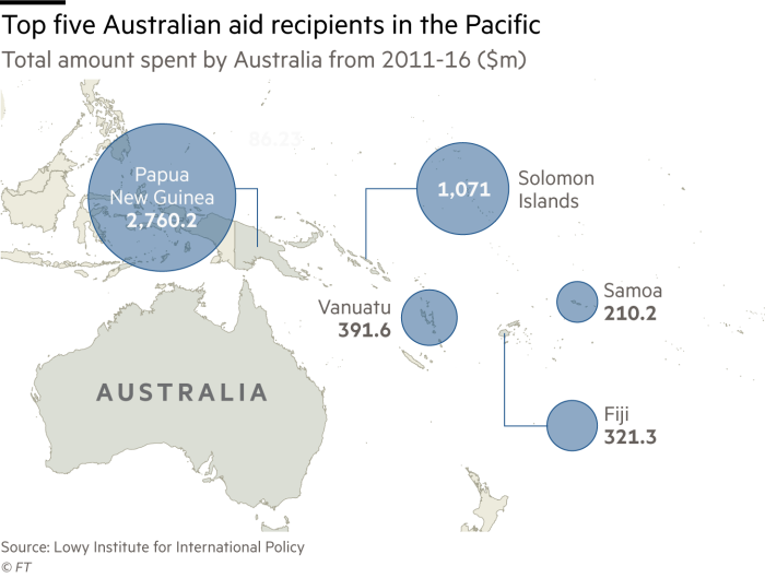Map Of Australia New Zealand And Papua New Guinea.China Australia Rivalry Heats Up Over Pacific Islands Financial Times