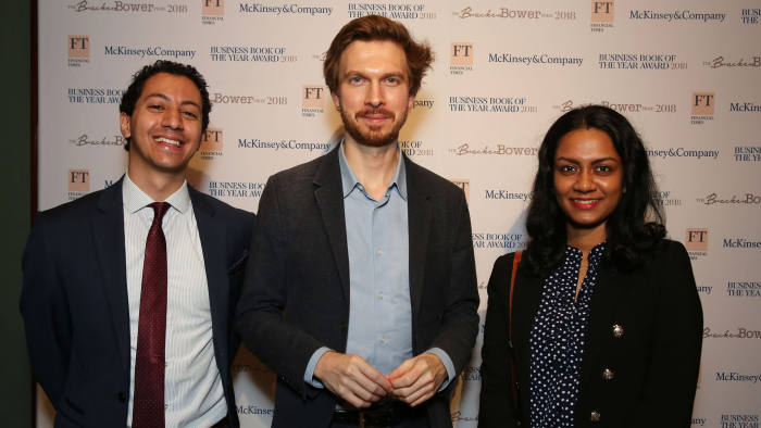 FT McKinsey Business Book of the Year Award 2018 The National Gallery .London Left - Andrew Leon Hanna Picture By Gareth Davies