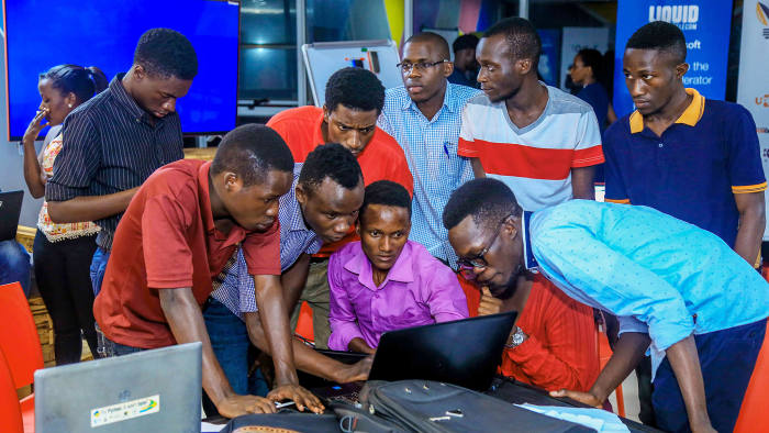 data scientists in Uganda participated in a machine learning hackathon hosted by Innovation Village using the Zindi platform to predict social media impact for businesses in Africa.
