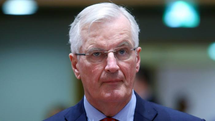 Chief EU negotiator for Brexit, Michel Barnier looks on prior to a General Affairs council on article 50 at the European Council in Brussels on May 14, 2018. / AFP PHOTO / Francois WalschaertsFRANCOIS WALSCHAERTS/AFP/Getty Images