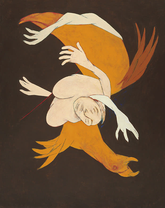 Tyeb Mehta: Falling Figure with Bird