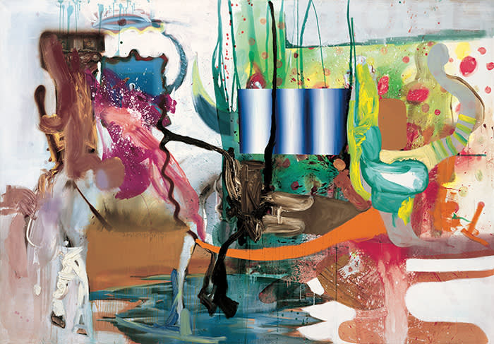 Albert Oehlen, Sachen aus Glas, 2002, Acrylic paint and oil on canvas, 209.5 x 301.5cm, Photo: Archive Galerie Max Hetzler, Berlin | Paris © Albert Oehlen