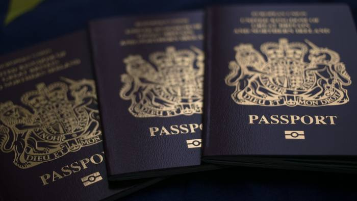 BATH, ENGLAND - OCTOBER 13: In this photo illustration, a British passport is seen in front of the flag of the European Union on October 13, 2017 in Bath, England. Currency experts have warned that as the uncertainty surrounding Brexit continues, the value of the British pound, which has remained depressed against the US dollar and the euro since the UK voted to leave in the EU referendum, is likely to fluctuate. (Photo Illustration by Matt Cardy/Getty Images)