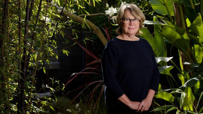 """Patty McCord, Author, """"Powerful: Building a Culture of Freedom and Responsibility"""" talks about her new book and ideas on how to manage people in large corporations, at her home in Santa Cruz, California, Wednesday, Jan. 31, 2018. Thor Swift for the Financial Times"""