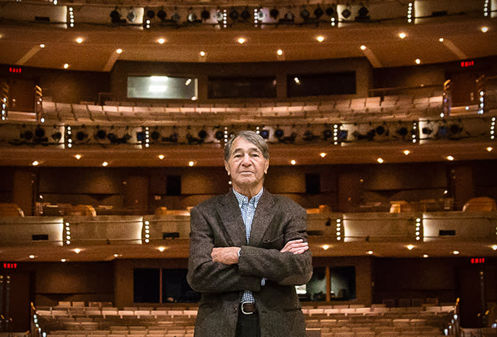 Jack Diamond at the Four Seasons Centre for the Performing Arts that he built for the Canadian Opera Company in 2006