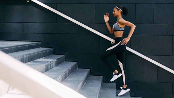 Woman running steps life coach start sport exercise health