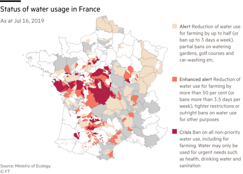 France curbs water use as drought worsens | Financial Times