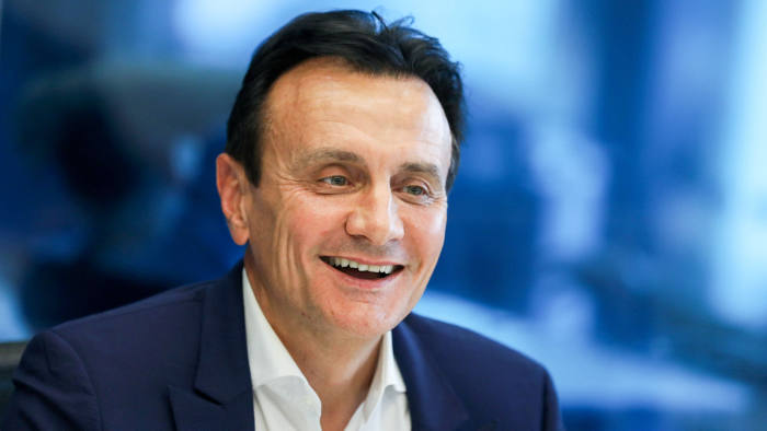 Pascal Soriot, chief executive officer of Astrazeneca Plc, speaks during an interview in London, U.K., on Monday, Sept. 4, 2017. Soriotsaid he's worried about the lack of progress in negotiations between the U.K. and the European Union on their future ties, which could impede sales of drugs in foreign markets afterBrexit. Photographer: Chris Ratcliffe/Bloomberg