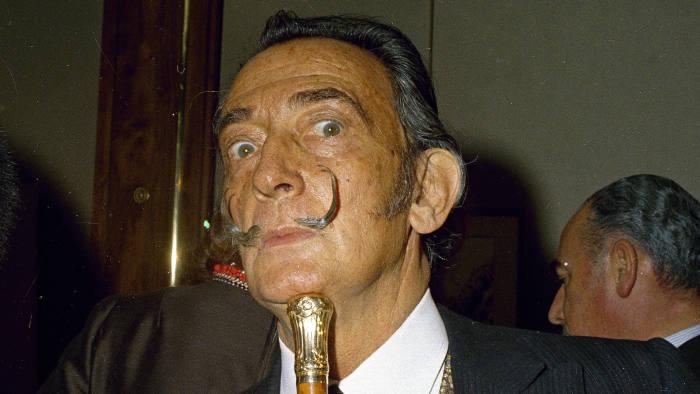 Eccentric Spanish painter Salvador Dali is seen in Jan. 1968, location unknown. (AP Photo)