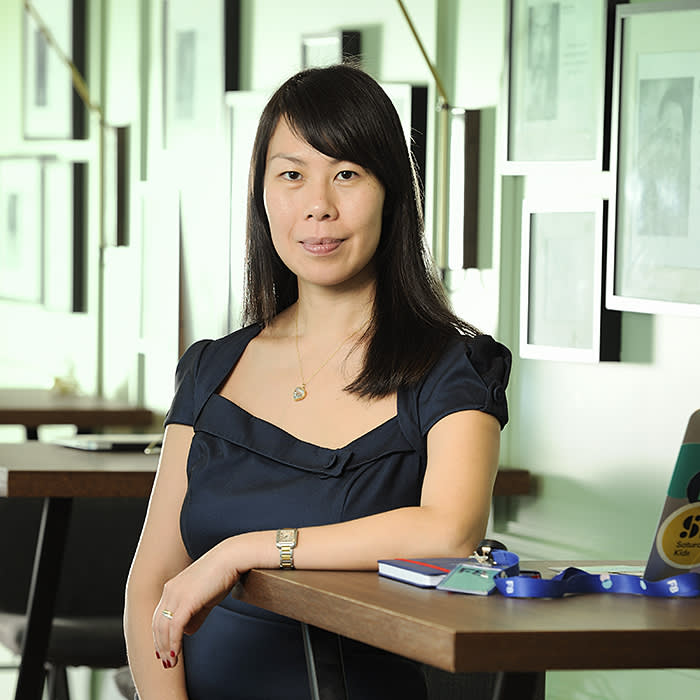 Michelle Yong of FOUND8, in her offices in Singapore, on Wednesday, November 8, 2019. Photo: Munshi Ahmed for FT.