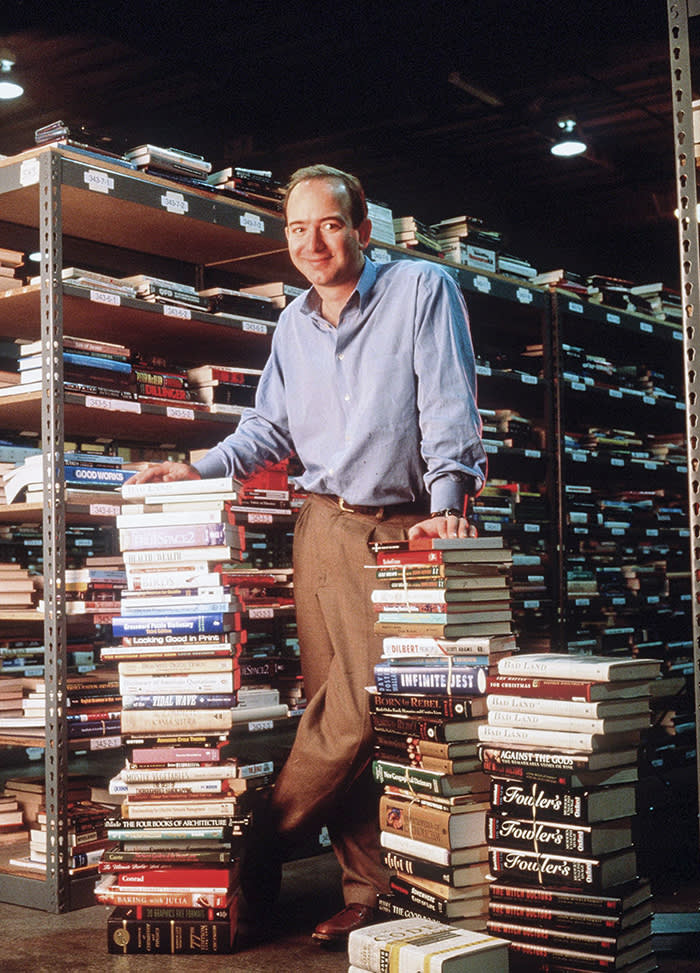 298996 05: Jeff Bezos, Founder & Ceo Of Amazon.Com, Poses For Portrait January 1, 1997 In Seattle, Wa. (Photo By Paul Souders/Getty Images)
