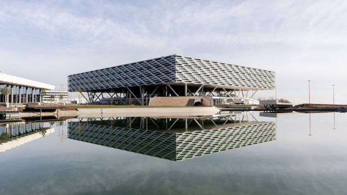 Adidas Arena the new Arena building at the adidas headquarters in Herzogenaurach, Germany