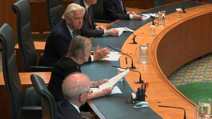 Screengrab taken from the Supreme Court in London, of Lady Hale (centre) reading the ruling that Prime Minister Boris Johnson's advice to the Queen to suspend Parliament for five weeks was unlawful. PA Photo. Picture date: Tuesday September 24, 2019. See PA story COURTS Brexit. Photo credit should read: Supreme Court/PA Wire
