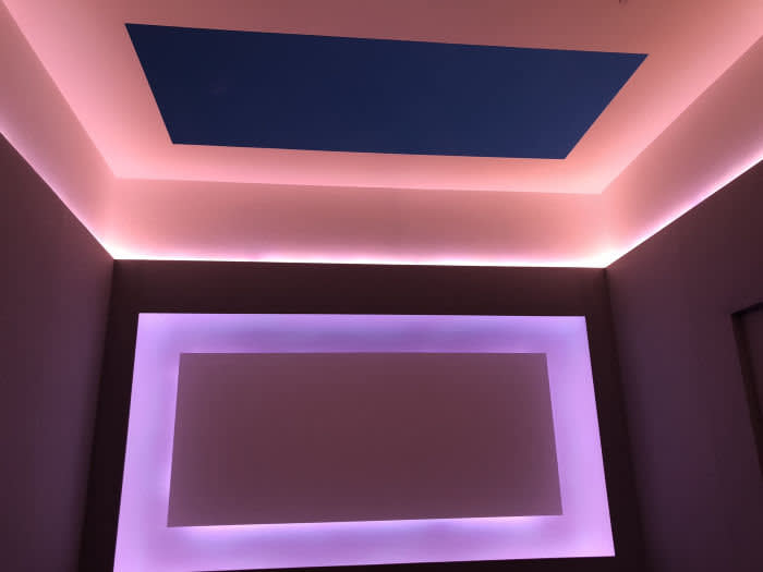 James Turrell Screening room in MOhn's home