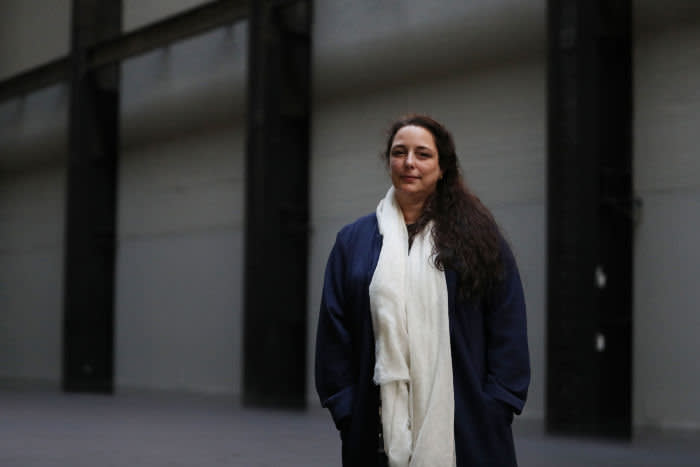 Tania Bruguera at Tate Modern at the opening of her commission 'Tania Bruguera: 10,142,926' in October 2018