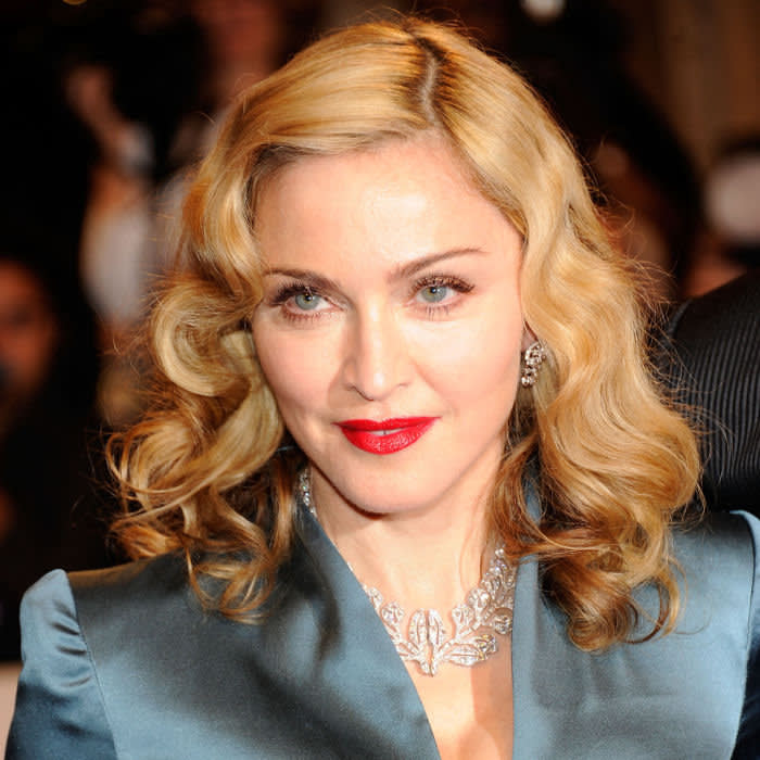 "NEW YORK, NY - MAY 02: Madonna attends the ""Alexander McQueen: Savage Beauty"" Costume Institute Gala at The Metropolitan Museum of Art on May 2, 2011 in New York City. (Photo by Kevin Mazur/WireImage)"