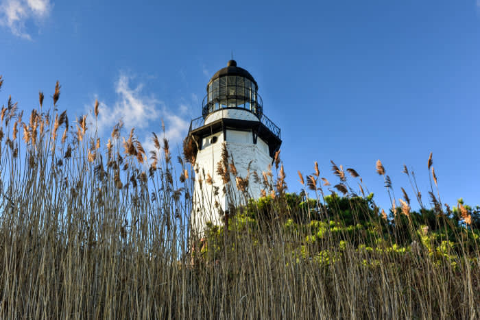The Montauk Point Lighthouse located adjacent to Montauk Point State Park, at the easternmost point of Long Island, in the hamlet of Montauk in the Town of East Hampton in Suffolk County, New York.; Shutterstock ID 506905819; Department: -; Job/Project: -; Employee Name: -