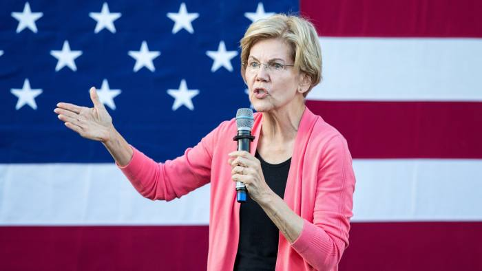 KEENE, NH - SEPTEMBER 25: Democratic presidential candidate Sen. Elizabeth Warren (D-MA) speaks during a Town Hall at Keene State College on September 25, 2019 in Keene, New Hampshire. Warren's candidacy has been surging recently, with some polls showing her leading or virtually tied with Joe Biden at the top of the Democratic field. (Photo by Scott Eisen/Getty Images)