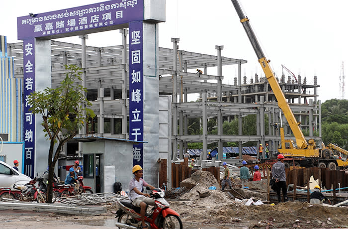 Sihanoukville is rapidly becoming a Chinese outpost with many construction projects underway