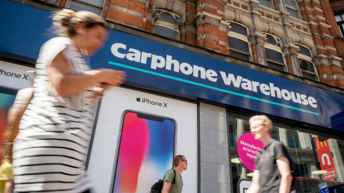 Whistleblowers See Carphone Warehouse Fined 29m For Mis Selling Financial Times