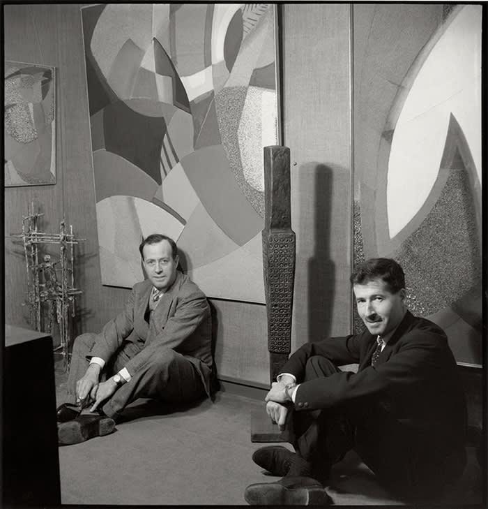 Charles and Peter Gimpel of Gimpel Fils Ida Kar 1958 copyright National Portrait Gallery, London