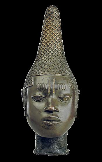 16th-century commemorative head of Queen Idia, Benin, from the British Museum