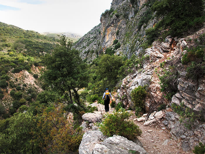 The Audalazar gorge on the final stage back to Ronda credit Stephen Venables