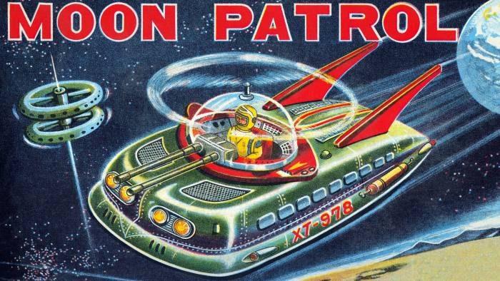 Illustration from the box of a science fiction-related children's toy. (Photo by Buyenlarge/Getty Images)