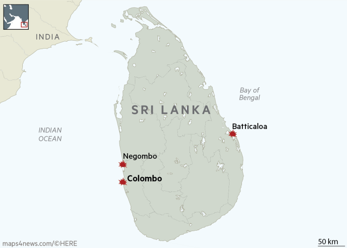 Sri Lanka Easter Sunday blasts kill at least 290