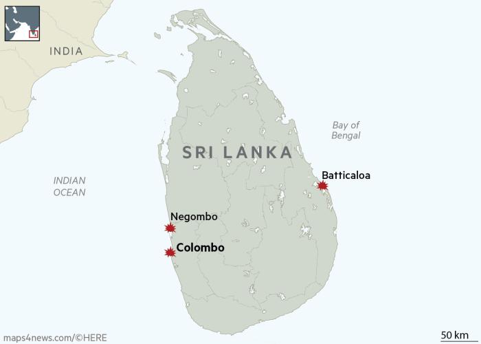 Sri Lanka Easter Sunday blasts kill at least 290