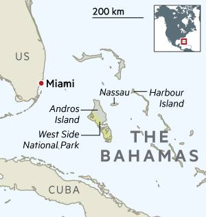 Map showing The Bahamas