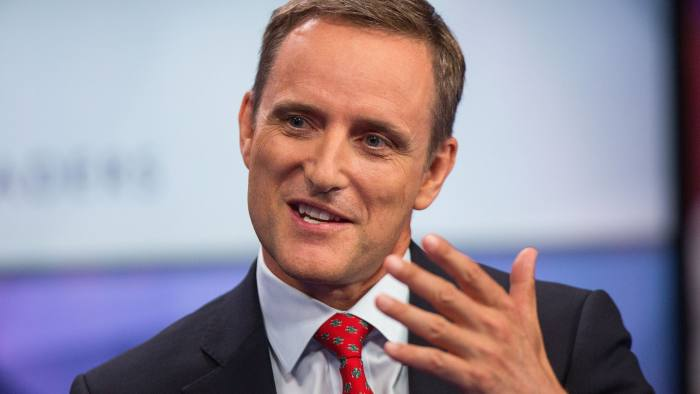 Mark Wilson, chief executive officer of Aviva Plc, gestures while speaking during a Bloomberg Television interview in London, U.K., on Wednesday, Sept. 7, 2016. The U.K. government needs to provide the finance industry with more certainty about when it will trigger the formal two-year process to leave the European Union, Wilson said. Photographer: Simon Dawson/Bloomberg