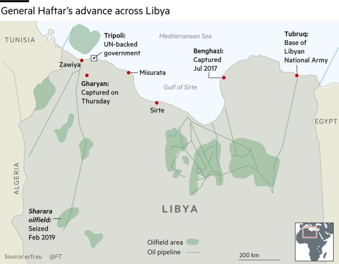 Western alarm over Libyan strongman's threat to attack