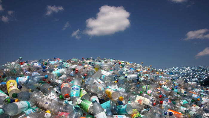 RF21C9 Plastic recycling, PET bottles and plastic rubbish are shredded and pressed, Essen, North Rhine-Westphalia