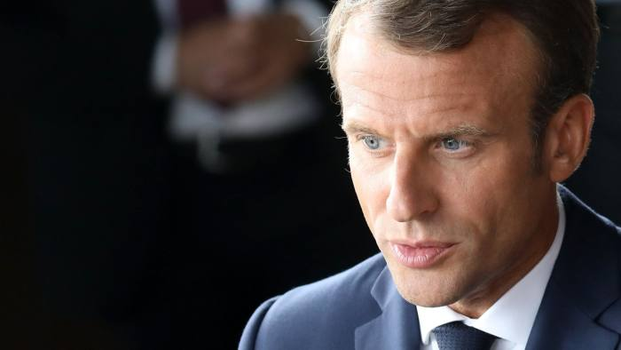 French President Emmanuel Macron looks on during a farewell ceremony at the Royal Theatre at the end of his visit to Denmark on August 29, 2018 in Copenhagen. (Photo by Ludovic MARIN / AFP) / SOLELY FOR SIPA AND BESTIMAGELUDOVIC MARIN/AFP/Getty Images