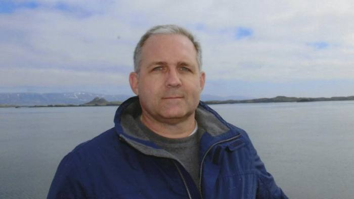 This undated photo provided by the Whelan family shows Paul Whelan in Iceland. Whelan, a former U.S. Marine arrested in Russia on espionage charges, was visiting Moscow over the holidays to attend a wedding when he suddenly disappeared, his brother said Tuesday, Jan. 1, 2019. (Courtesy of the Whelan Family via AP)
