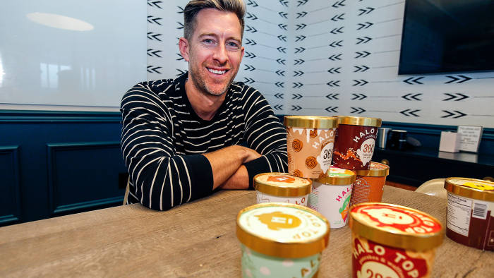 LOS ANGELES, CA.- SEPTEMBER 12: Halo Top and CEO Justin Wolverton has become one of the nation's best selling pints of ice cream without its own manufacturing plant (they use third part ice cream makers and distributors), without a headquarters (the 50 employees work at home) and without their own offices for their employees (they meet in a WeWork co-working space on LaBrea Avenue) September 12, 2017 in Los Angeles, California. (Photo by Kirk McKoy/Los Angeles Times via Getty Images)