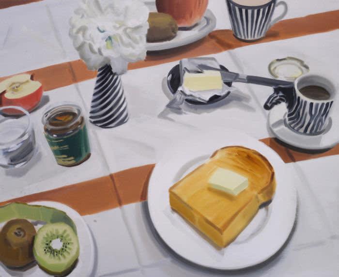 Ulala Imai BREAK FAST 2022 Oil on Canvas 50 x 60