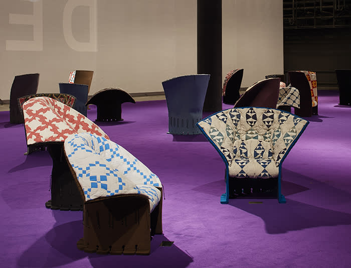 Chairs by Gaetano Pesce and Raf Simons for Calvin Klein