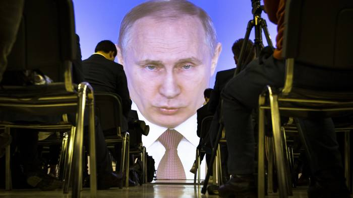 Vladimir Putin, Russian president, delivers his state of the nation address